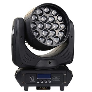 19x10W RGBW 4in1 LED Moving Head Wash Zoom Light