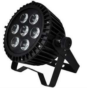 7x18W RGBWA+UV Waterproof LED Flat Par