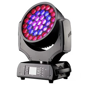 High power 37x15w rgbw led wash zoom moving head light